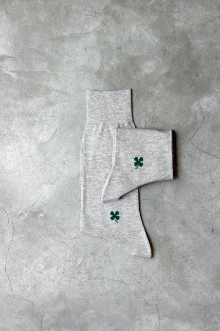 Long 100% organic cotton socks